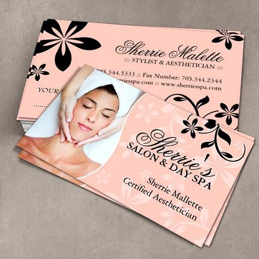 Make Your Own Spa Business Card Esthetician Business Cards Spa Business Cards Salon Business Cards