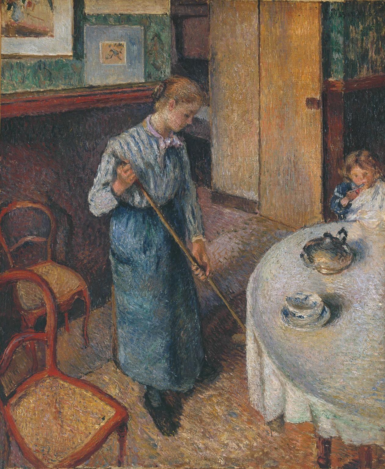 Camille Pissarro (1830–1903), The Little Country Maid (La Petite Bonne de campagne), 1882 | Collection Tate