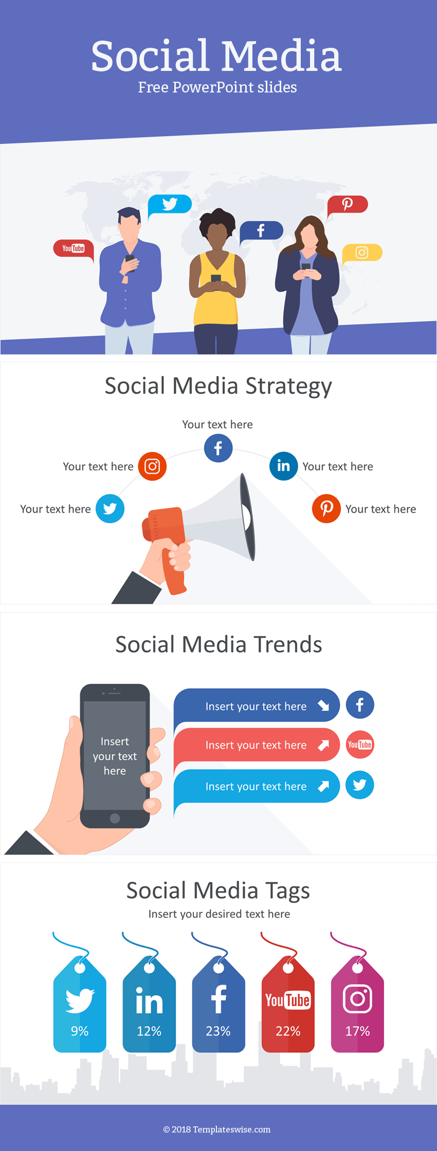 Support Your Message With Our Free Social Media Powerpoint Templates