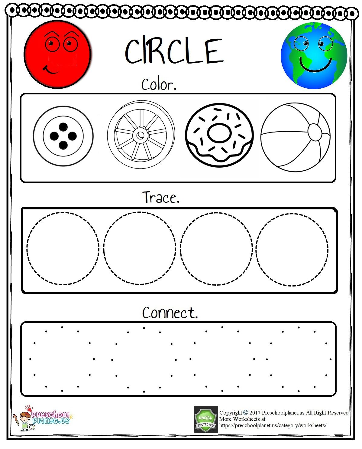 We Prepared A Circle Worksheet For Kindergarten