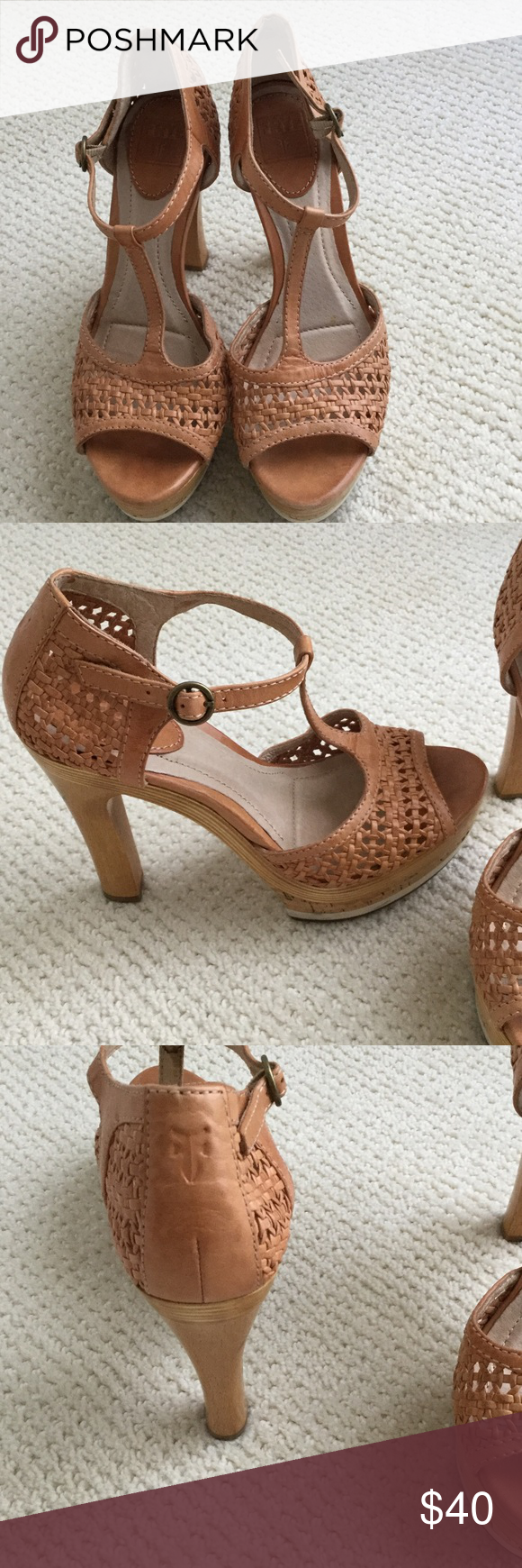 Shoes Frye platforms, mint condition worn once Frye Shoes Platforms