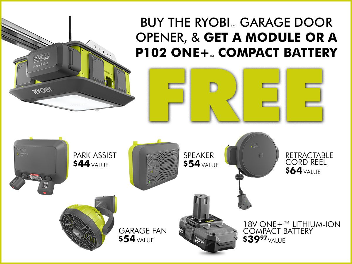 Ryobi Garage Door Fan Graphic Ryobi Garage Door Opener Deal Diy Ideas Projects