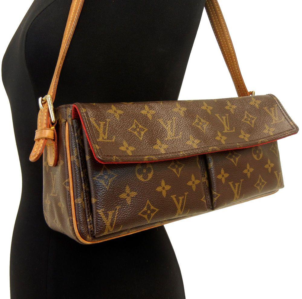 Authentic LOUIS VUITTON VIVA CITE MM Handbag Shoulder Bag LV Purse   LouisVuitton  Satchel 0d8592bea8841