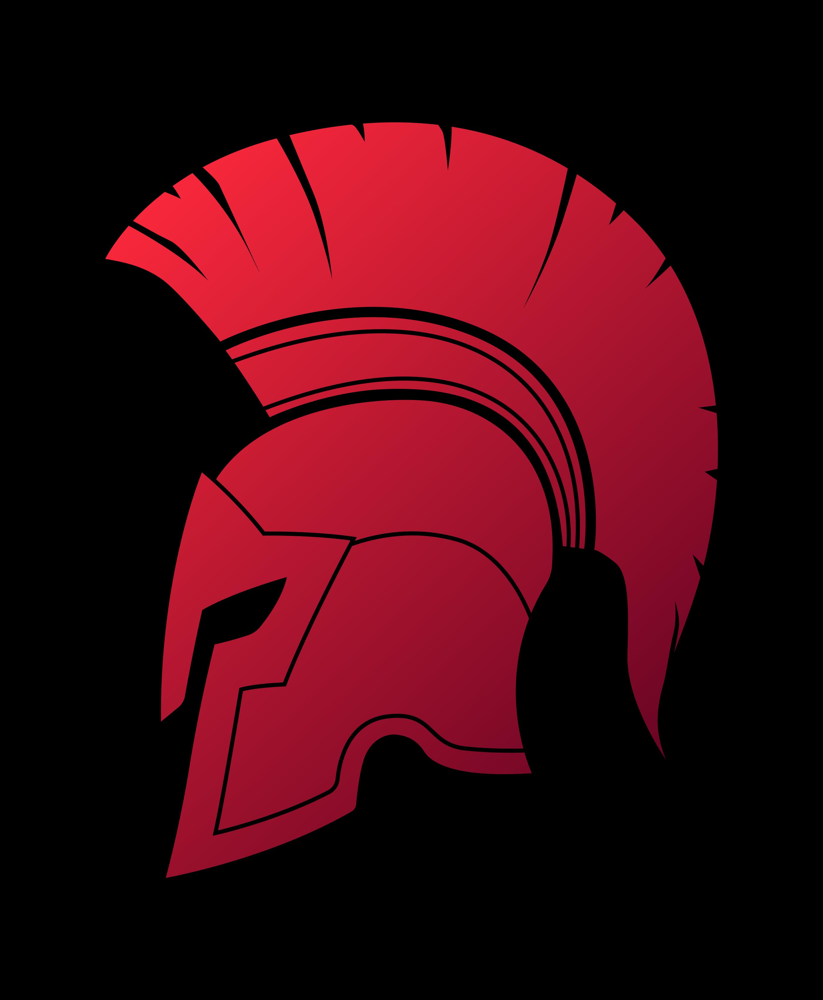 Spartan Helmet Red Spartan Helmet Spartan Typographic Logo Design