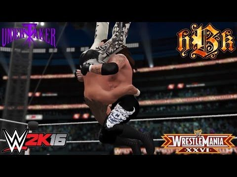 The Undertaker ends Shawn Michaels' Career at Wrestlemania 26! (WWE 2K16 Recreation) -PS4 - YouTube