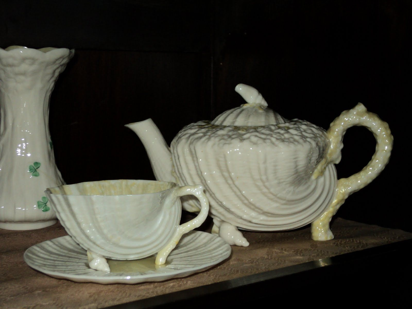 Antique Belleek China Ireland Selection Of Belleek Porcelain Belleek Belleek China Tea