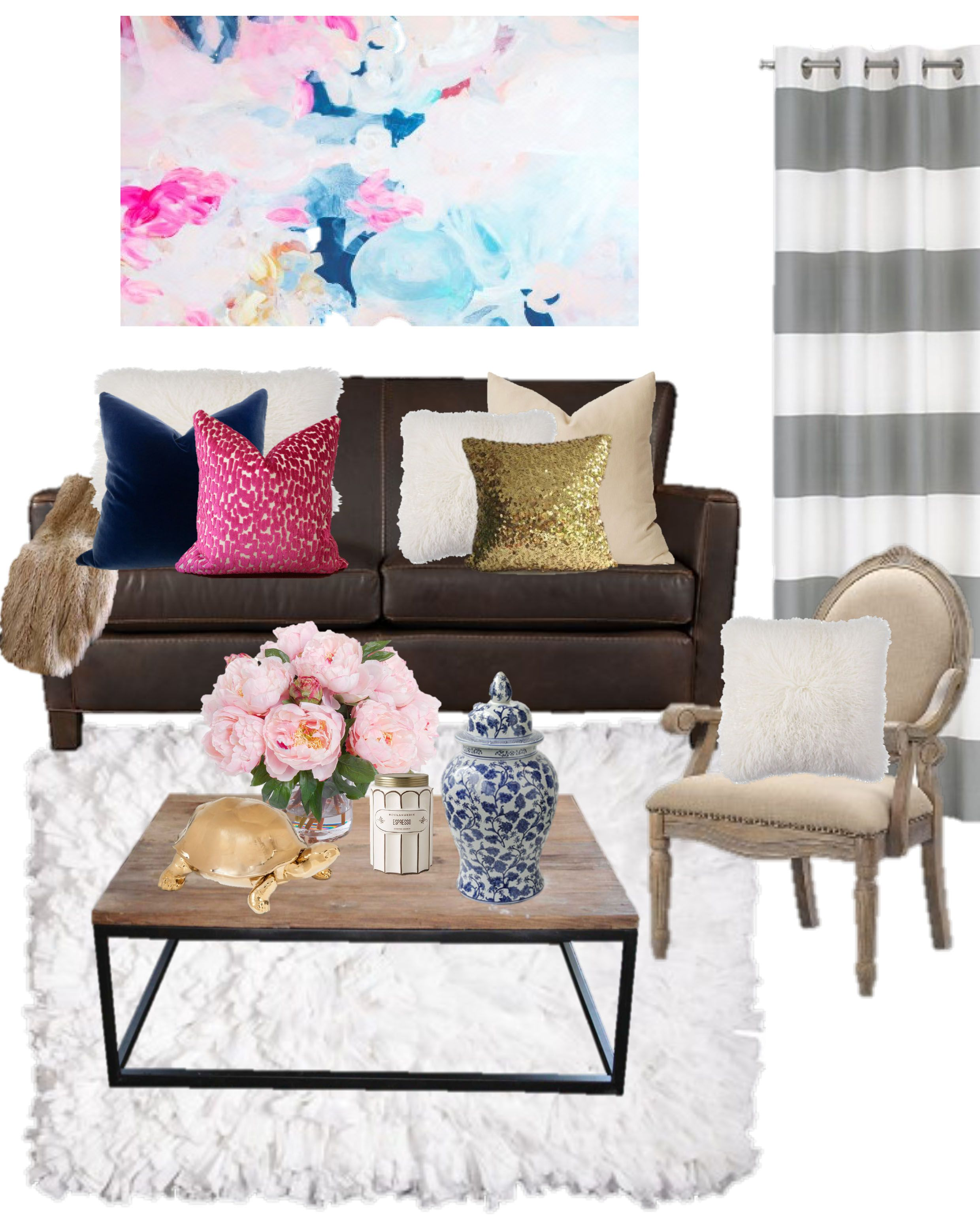 Pink And Grey Living Rooms Birch Grove Interiors Navy And Pink Decor Navy Blue