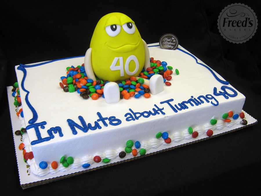 Go nuts over this cake candy birthdayinspiration Birthday Cakes