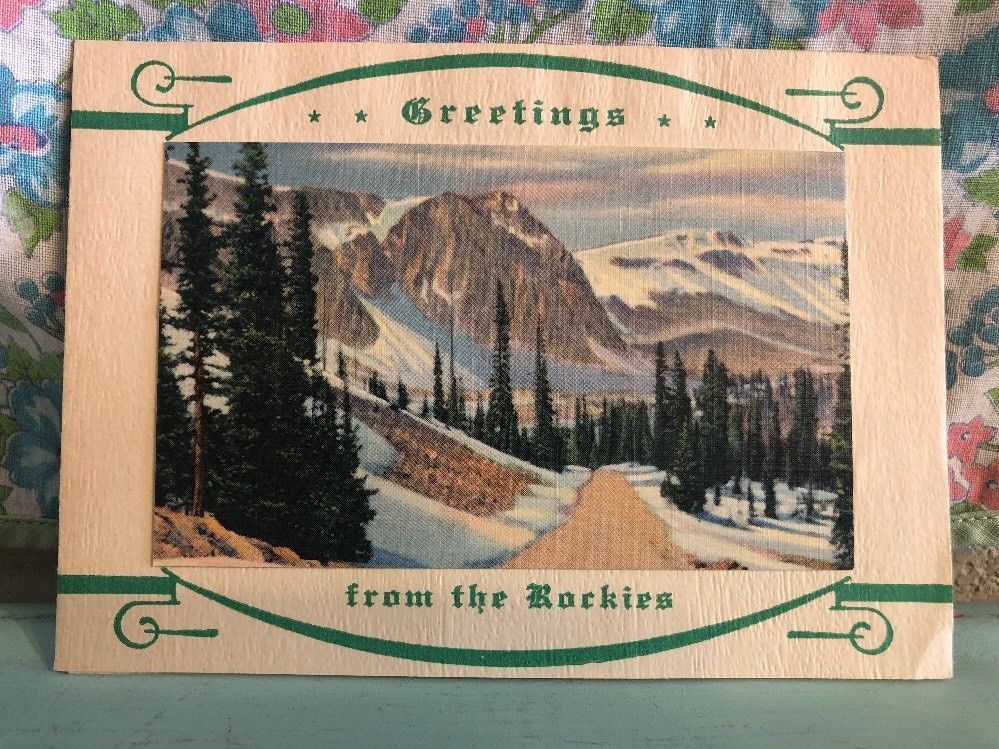 Vintage 1940s Christmas Card Colorado Greetings from the Rockies ...