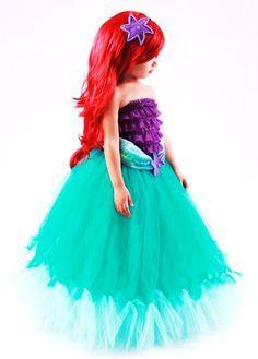 tutu skirt teal princess ariel mermaid costume 3 4 toddler girl - Halloween Princess Costumes For Toddlers