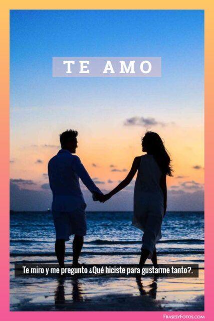 Frases de Amor con Marco colorido TE AMO
