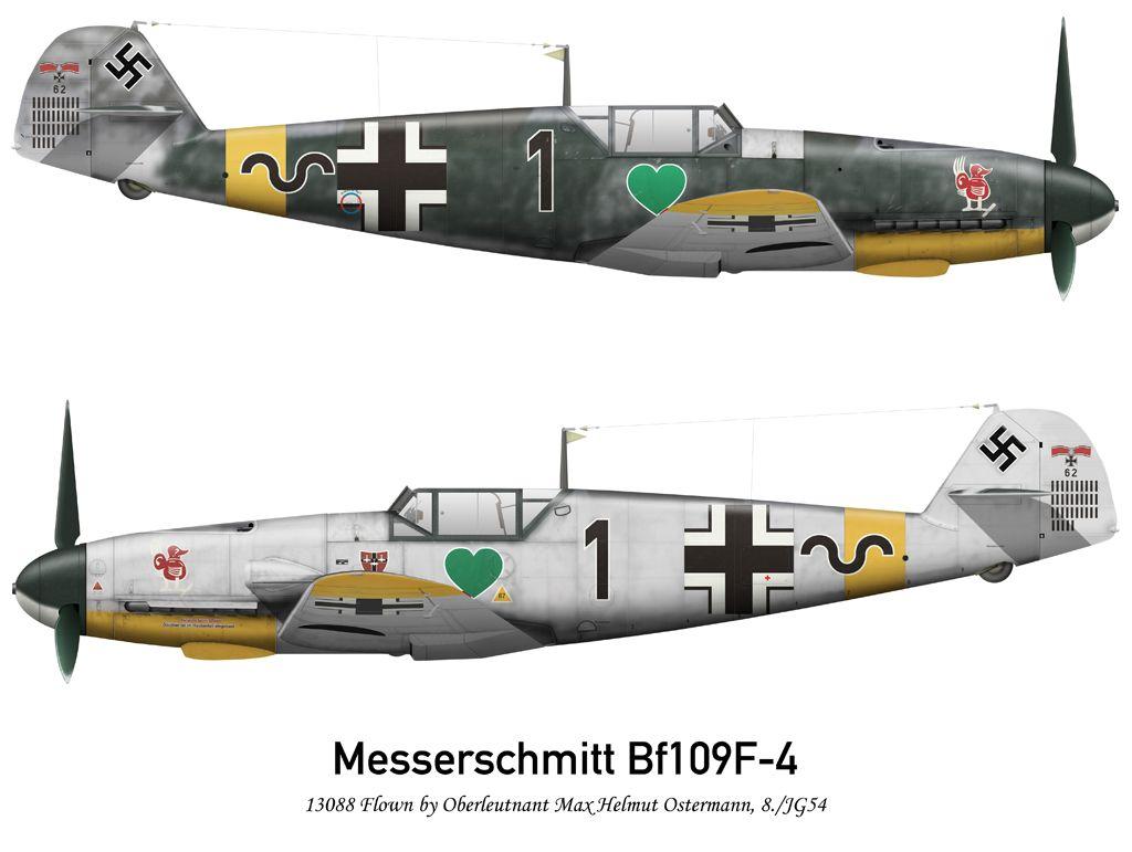 Messerschmitt Bf-109F-4 Black 1 8./ JG54,Max Helmut Ostermann