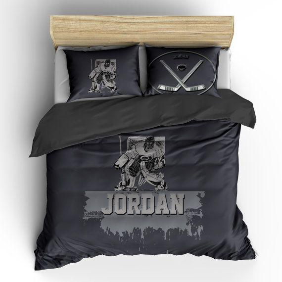 Hockey Goalie Custom Personalized Duvet Or Comforter Available