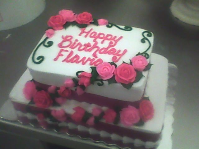 Pictures Of Single Layer Round Birthday Cakes