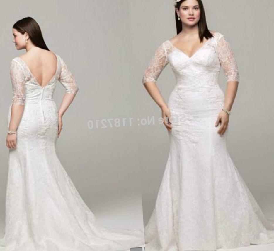 Vintage Plus Size Wedding Dresses 2016 Discount Illusion Lace Half