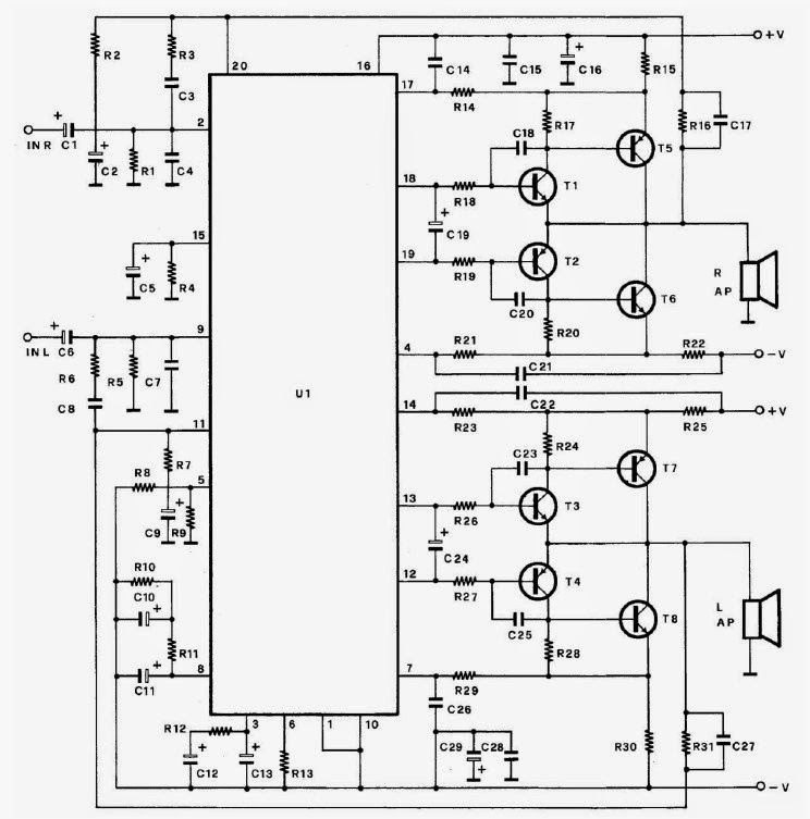 i u0026 39 m yahica  2n3055 transistor used public address amplifier circuit diagram