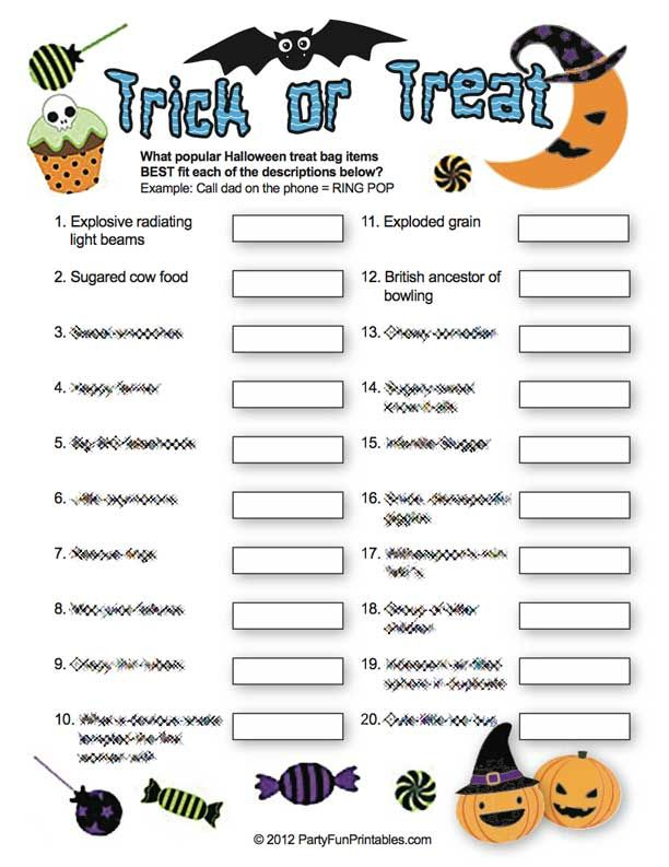 Printable Halloween Trivia Games Holiday - Halloween - Kids - free printable quiz