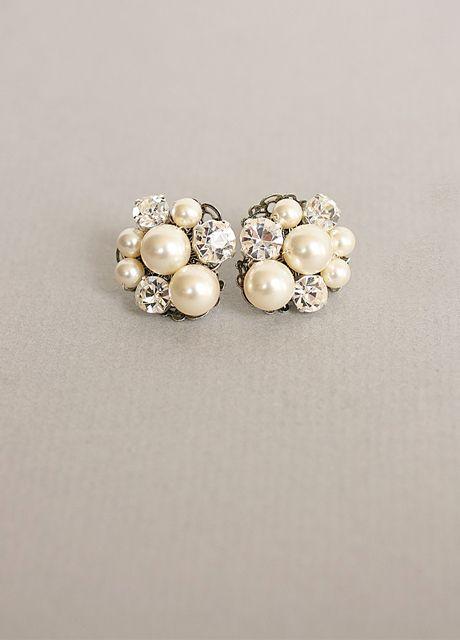 pearl/diamond earring clusters. Love