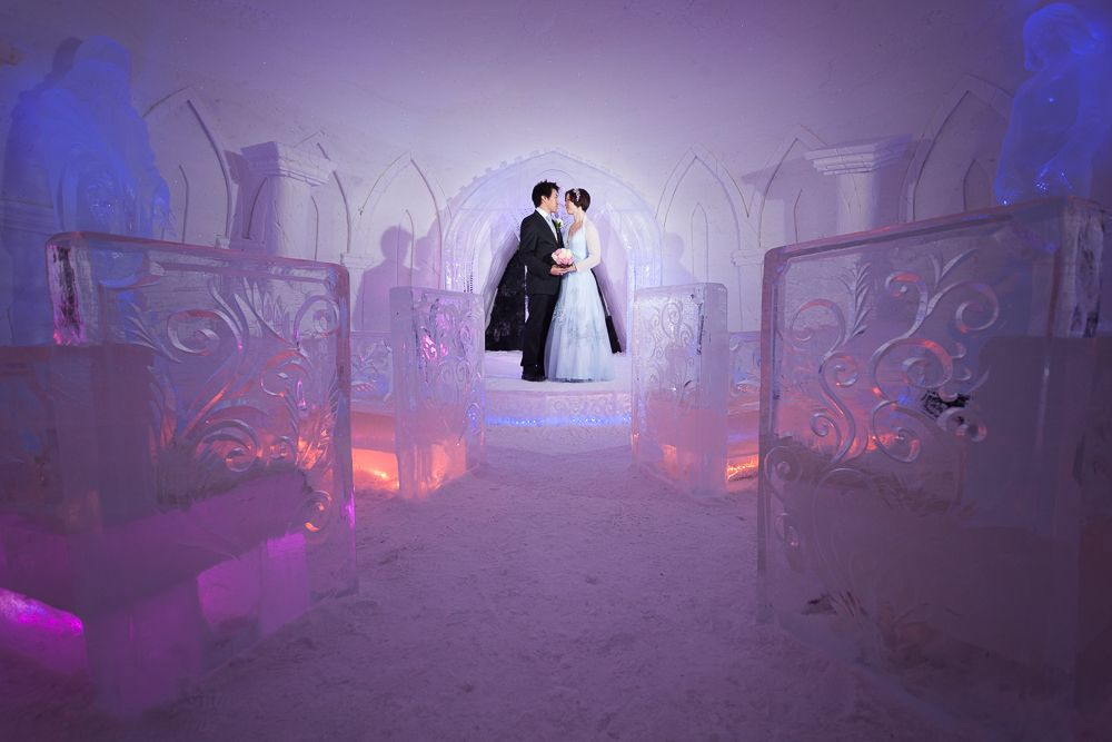 The Weddings In Snow Village Make Exchanging Vows An Experience To Remember Ice Chapel Kittilä Finnish Lapland Filmlapland