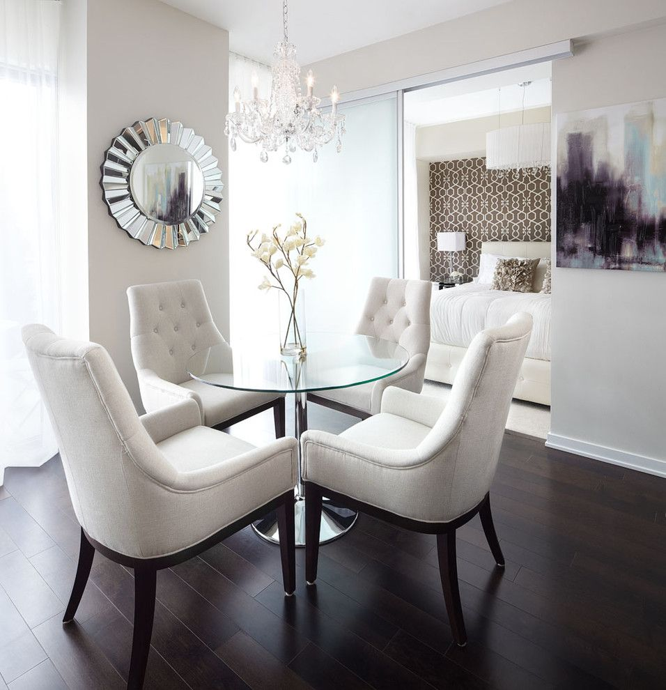 Small Apartment Design Dining Room Contemporary With Crystal