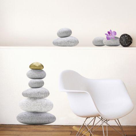 Zen Stones Wall Decal At Art Com Wall Decor Decals Decal Wall Art Stone Wall Art