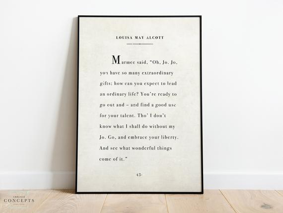 Instant Digital Download Large Vintage Storybook Page Print Louisa May Alcott Little Women Quote Jo Marmee March Antique Novel Page Little Women Quotes March Quotes Woman Quotes