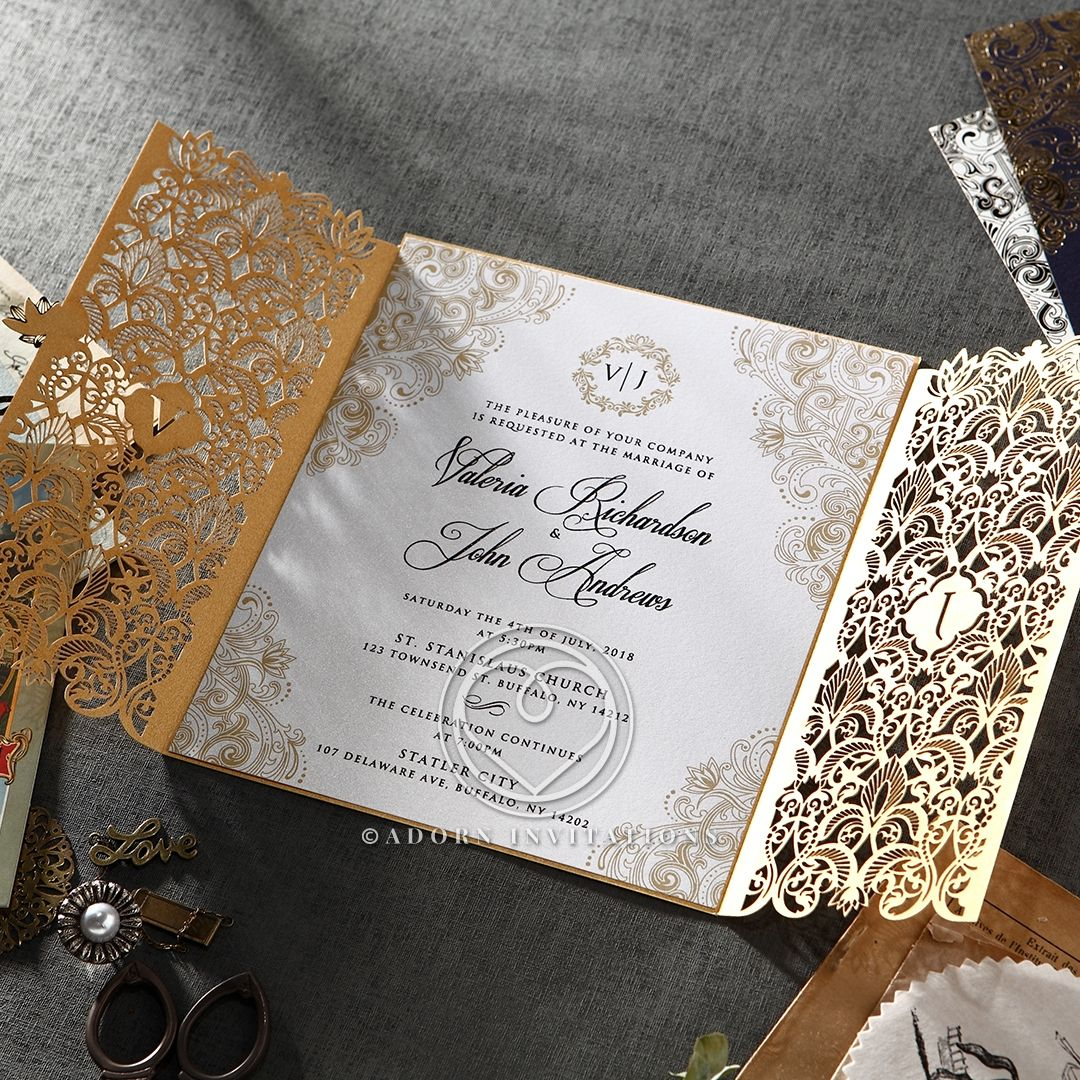 Imperial Glamour Pearl In 2019 Laser Cut Style Wedding