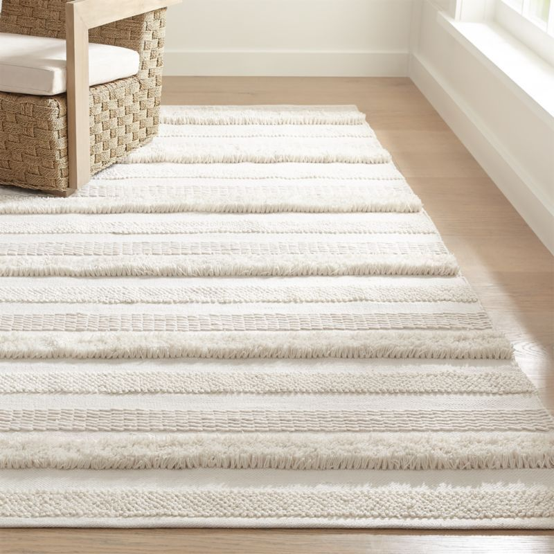 Alma Ivory Fringe Indoor Outdoor Rug Crate And Barrel Indoor Outdoor Rugs Buying Carpet Outdoor Rugs