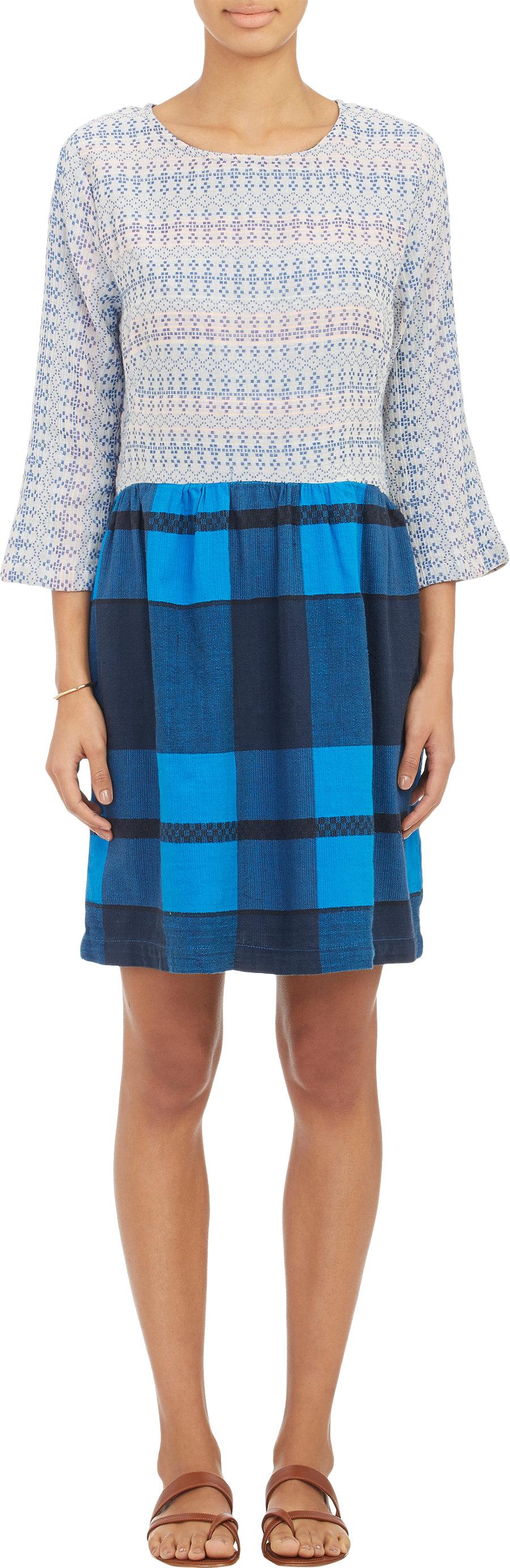 Ace & Jig Dutch Blue and Indigo Check Chalet Dress | Barneys Exclusive!