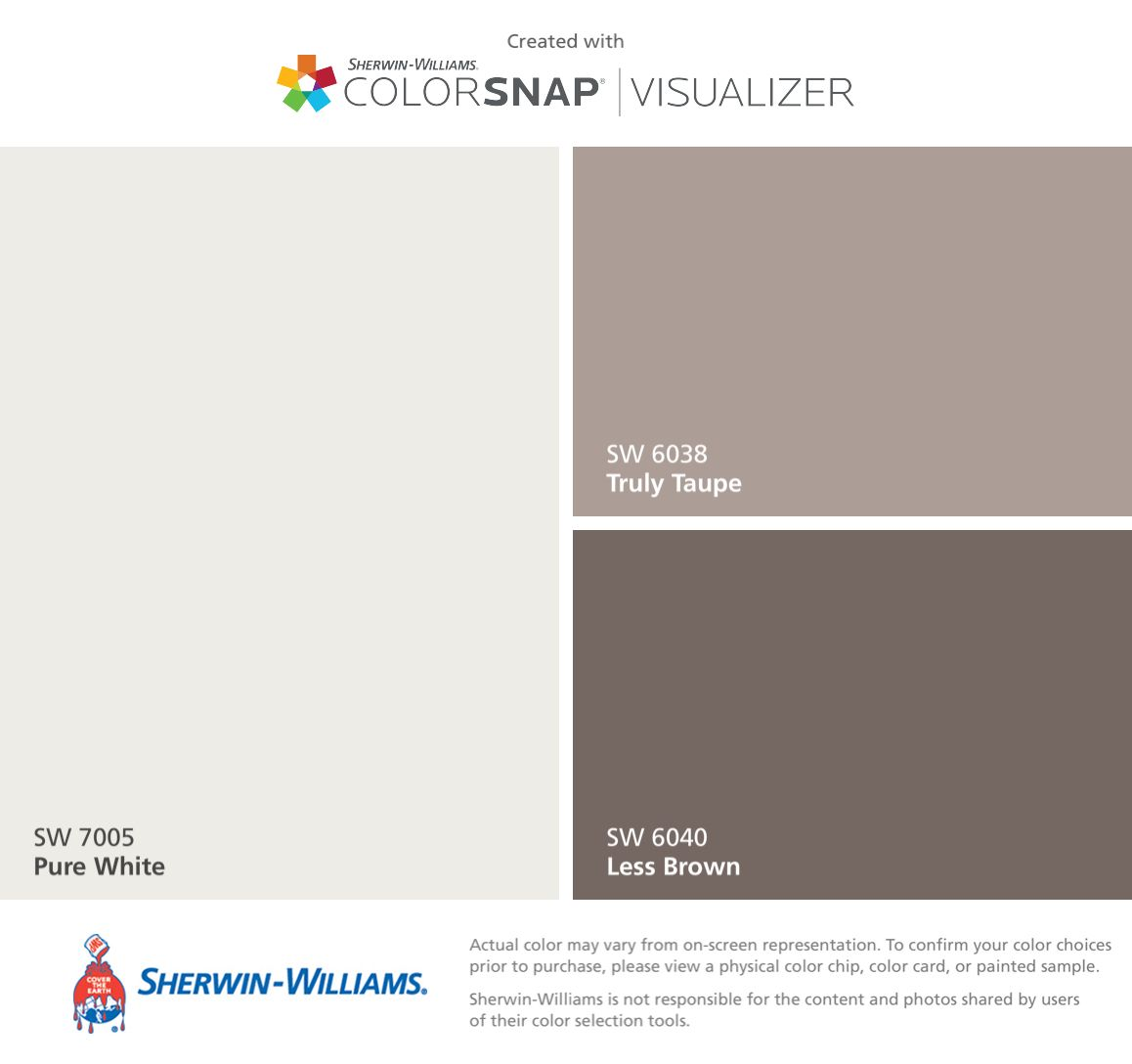 Perfect Greige By Sherwin Williams Neutral Light Tan With: I Found These Colors With ColorSnap® Visualizer For IPhone