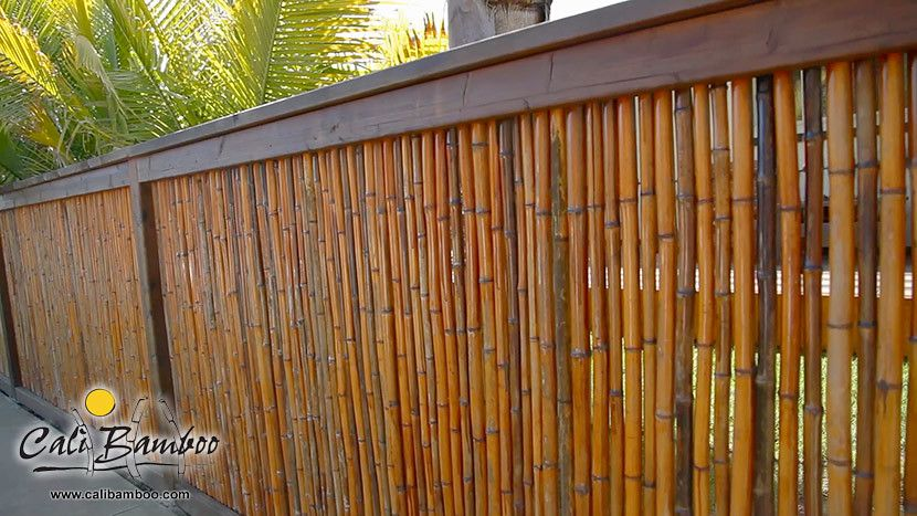 1 In Carbonized 4ft X 4ft Rolled Bamboo Fencing In 2020 Bamboo Fence House Fence Design