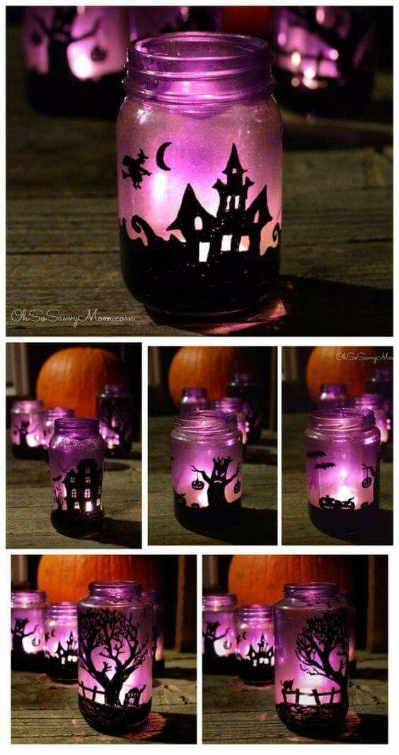 Frascos de velas decorados