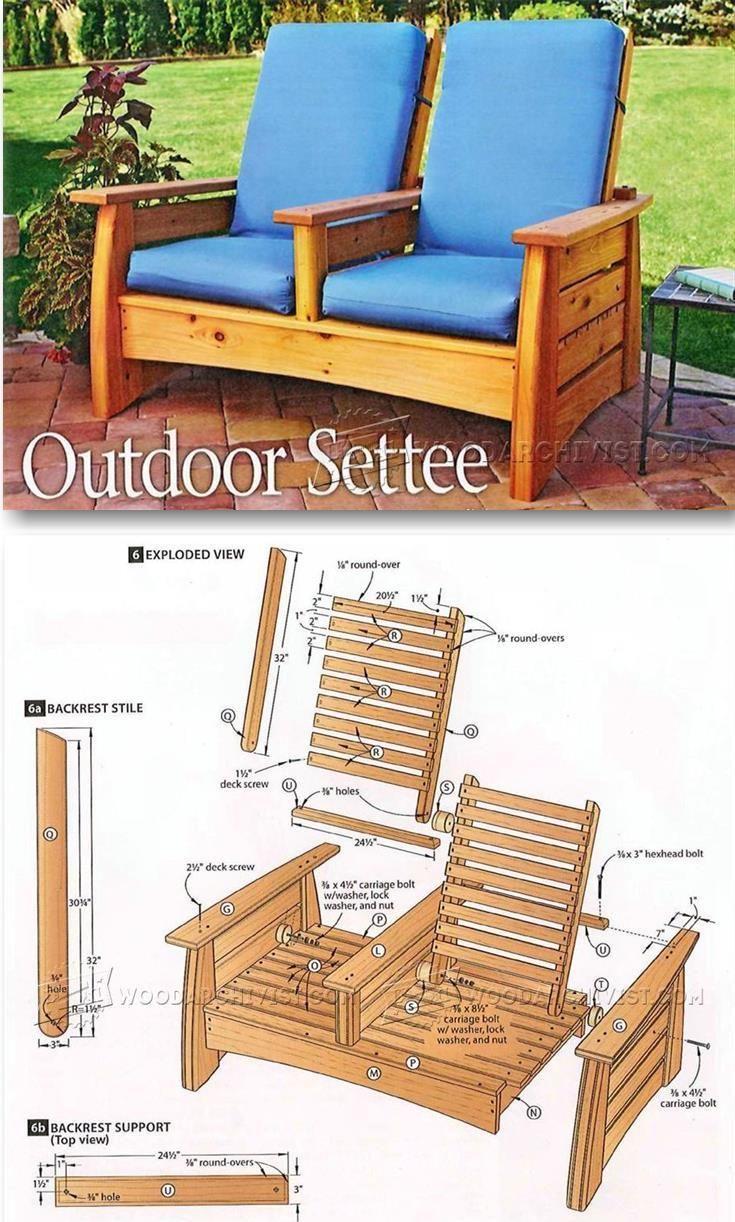 Patio Sette Plans - Outdoor Furniture Plans & Projects