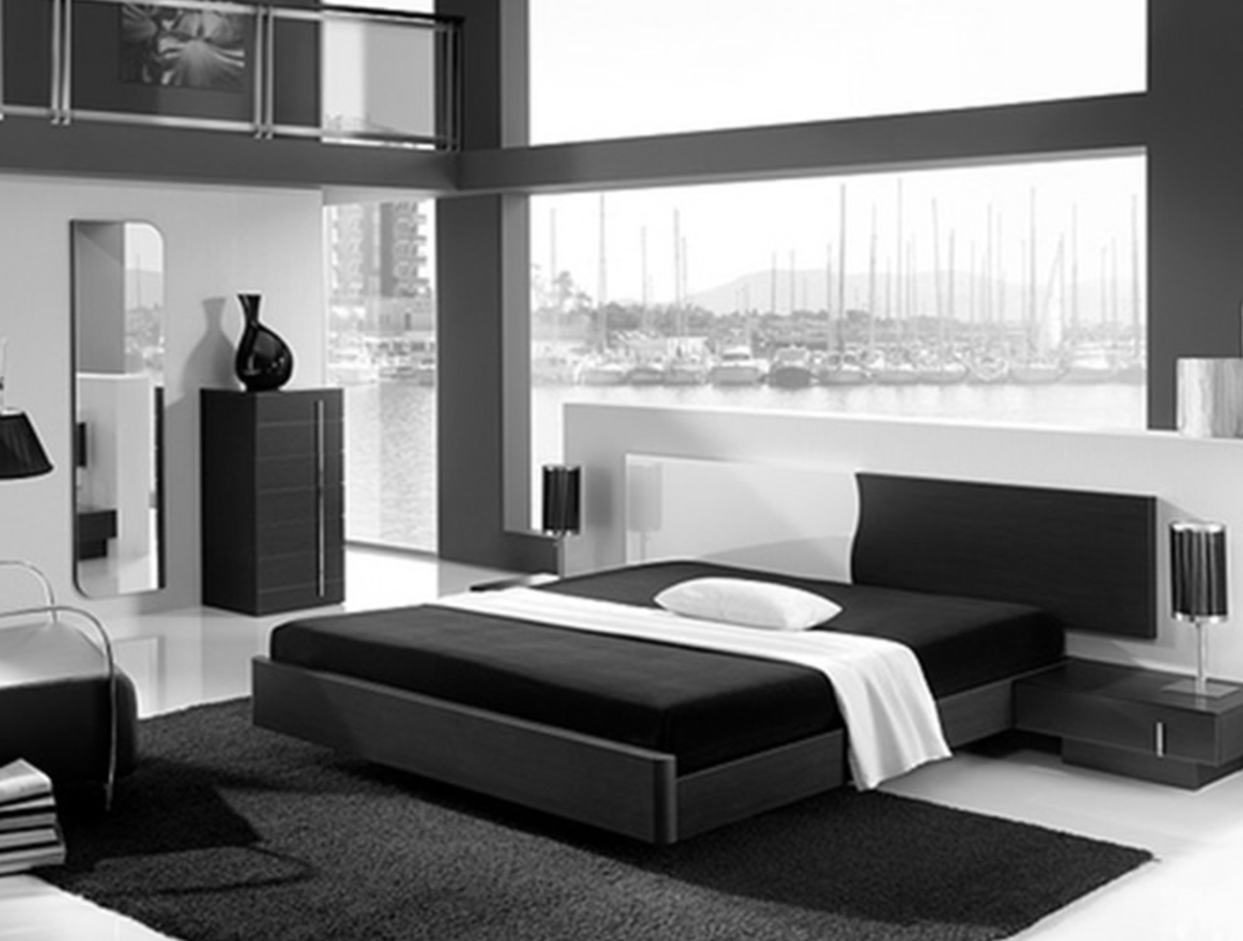 . Black And White Modern Bedroom Furniture   Inspiring Home Decoration