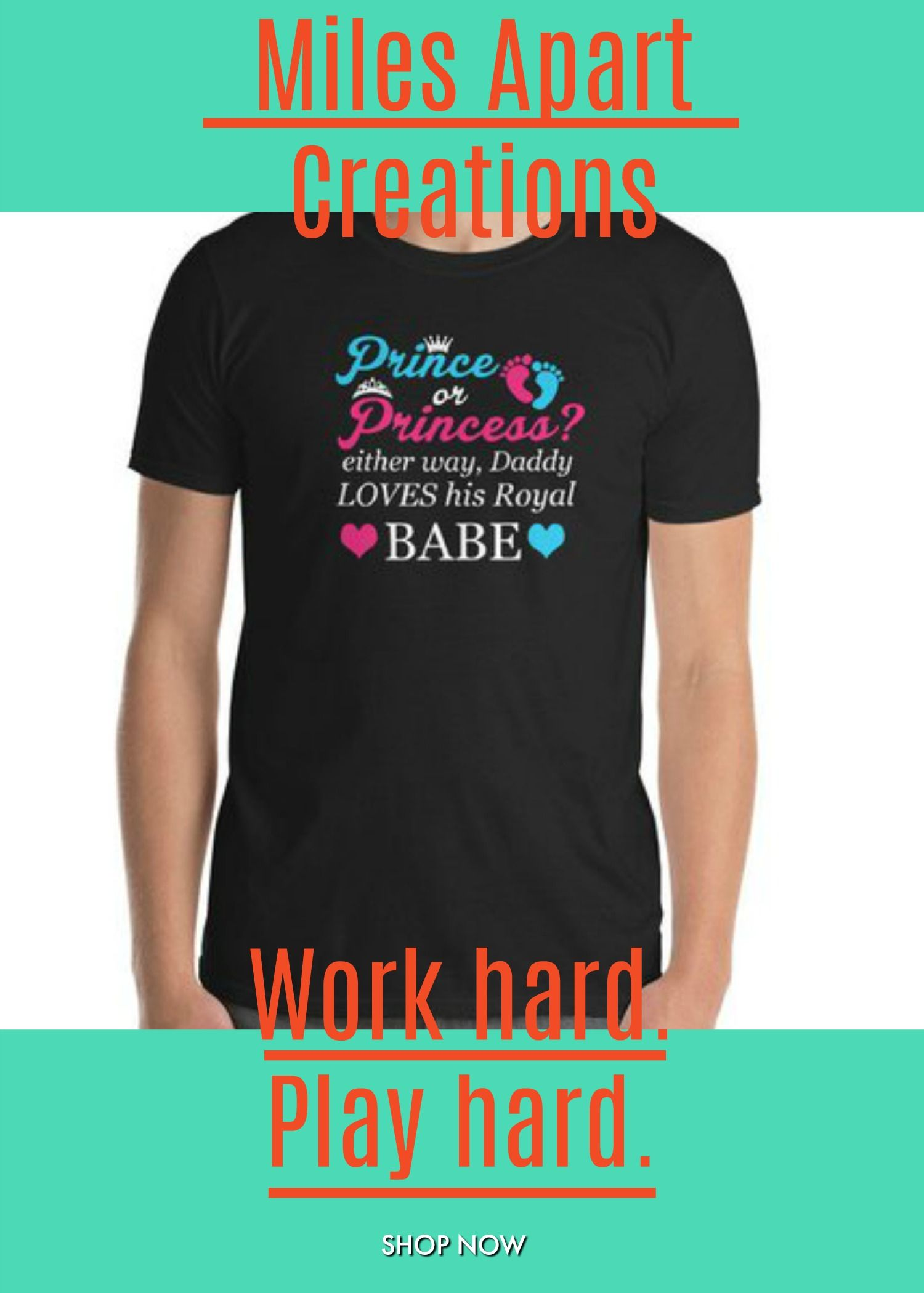 32eaca66 ... Unisex T-Shirt - Daddy Loves You #GenderReveal #RevealParty #Dad  #Can'tWait #Love #Babe #NewBaby #Prince #Princess #Boy #Girl #Pink #Blue  Gender Reveal ...