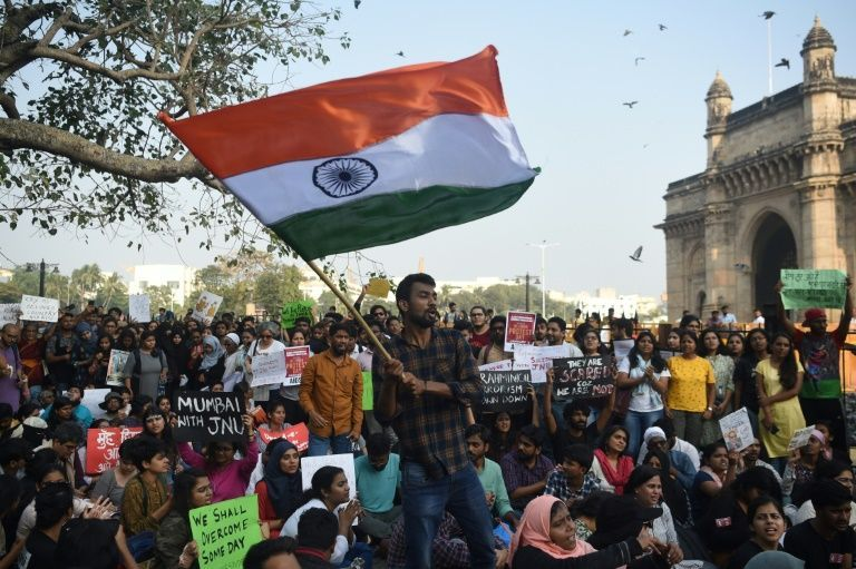University Rampage Sparks New Protests Across India Http Www