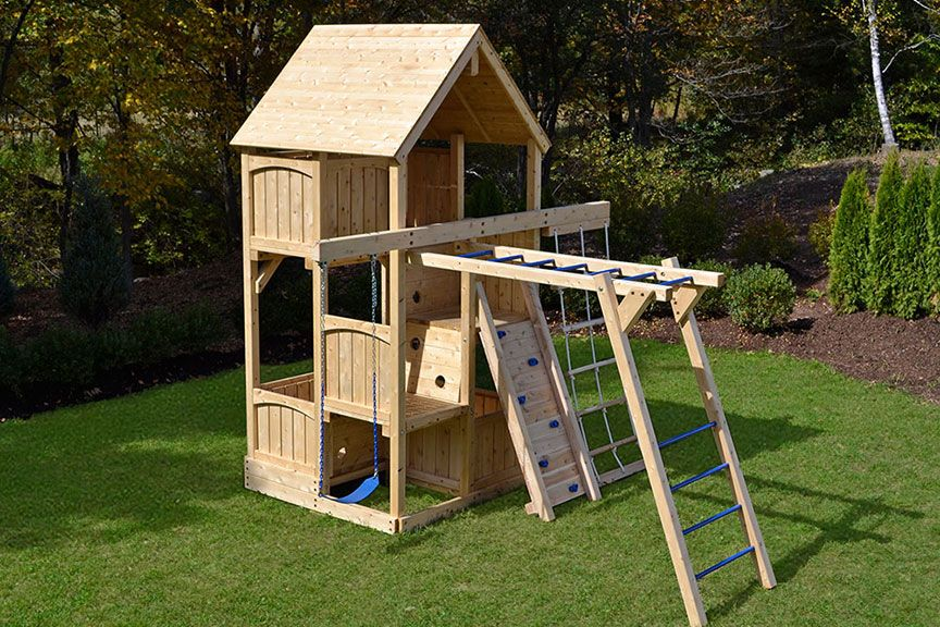 Swing Set Rock Wall Hm Without The Monkey Bars And No Slide Could