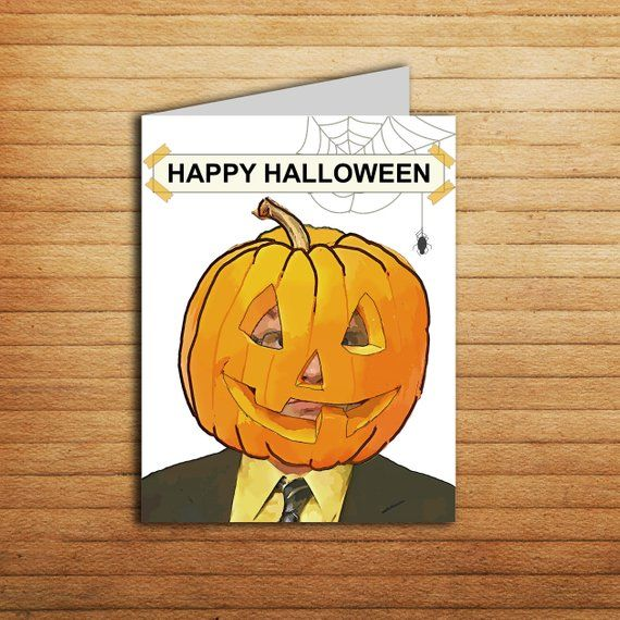picture relating to Happy Halloween Cards Printable identified as The Workplace Halloween Card Printable Humorous Dwight Schrute Within just