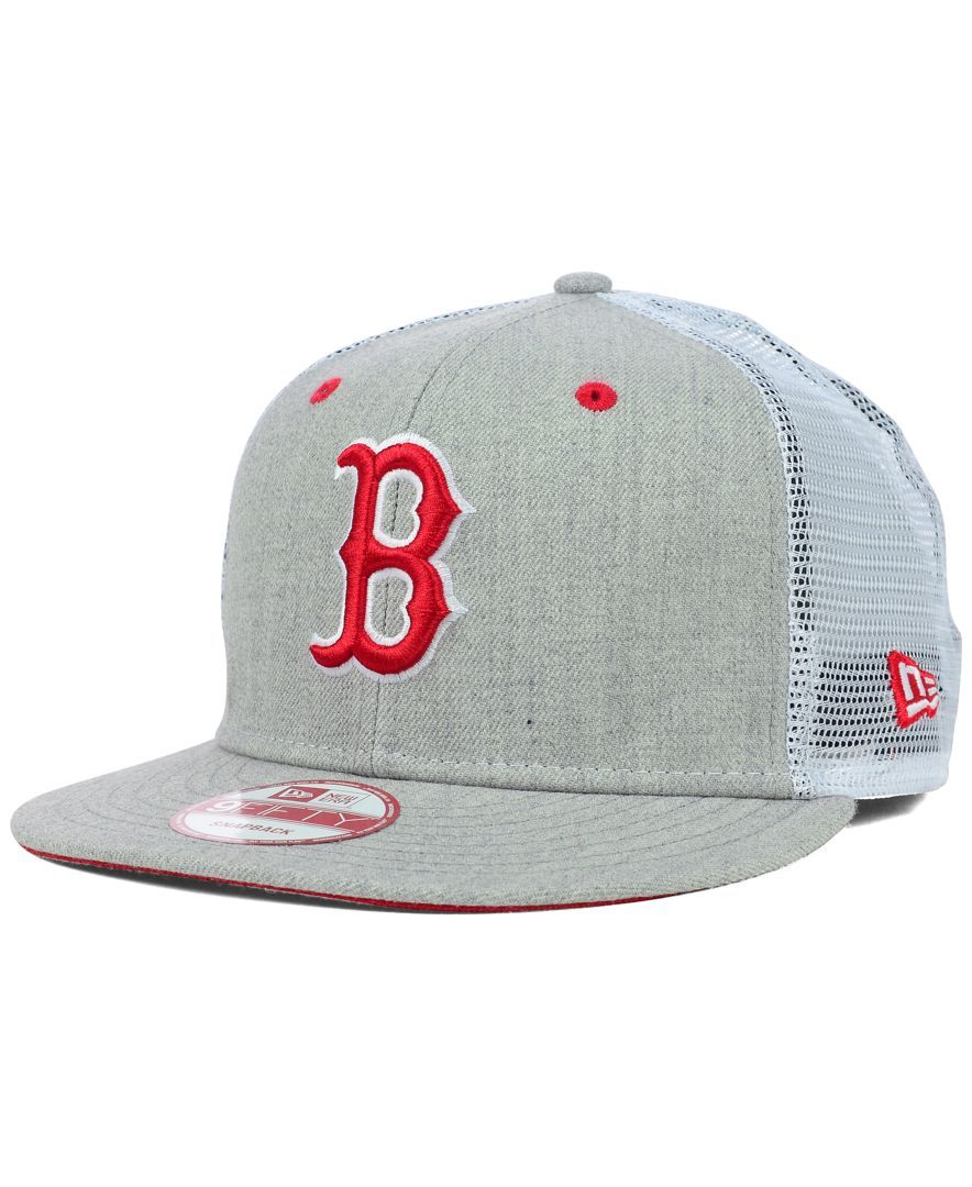 New Era Boston Red Sox Heather Trucker 9FIFTY Snapback Cap  176cb4280abe
