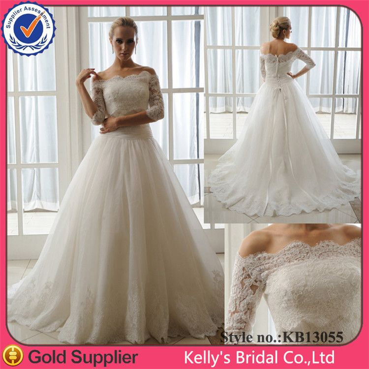 New Arrival 34 Long Sleeves Lace Wedding Dress Patterns