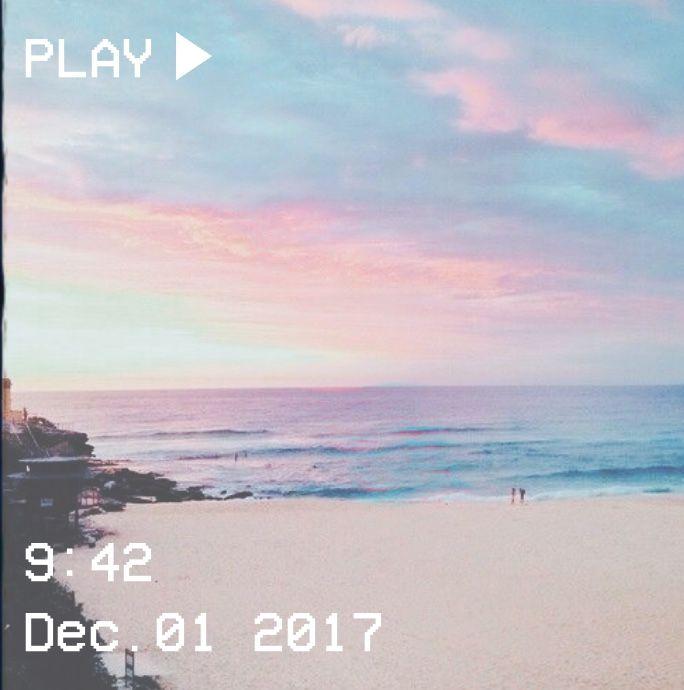 M O O N V E I N S 1 0 1 Vhs Pastel Aesthetic Beach Ocean Blue Pink Beach Aesthetic Aesthetic Wallpapers Aesthetic Photography