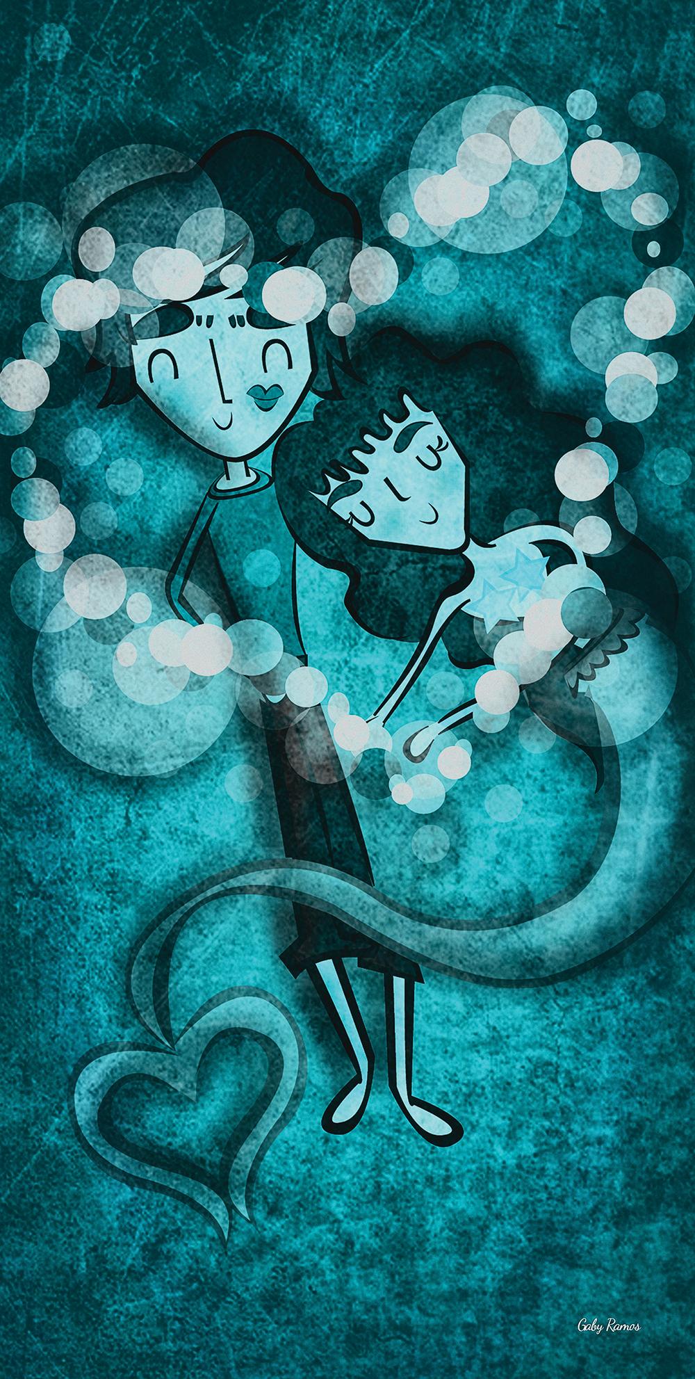 "Fragmento ""Dulce sal"" Ilustración digital Gaby Ramos"