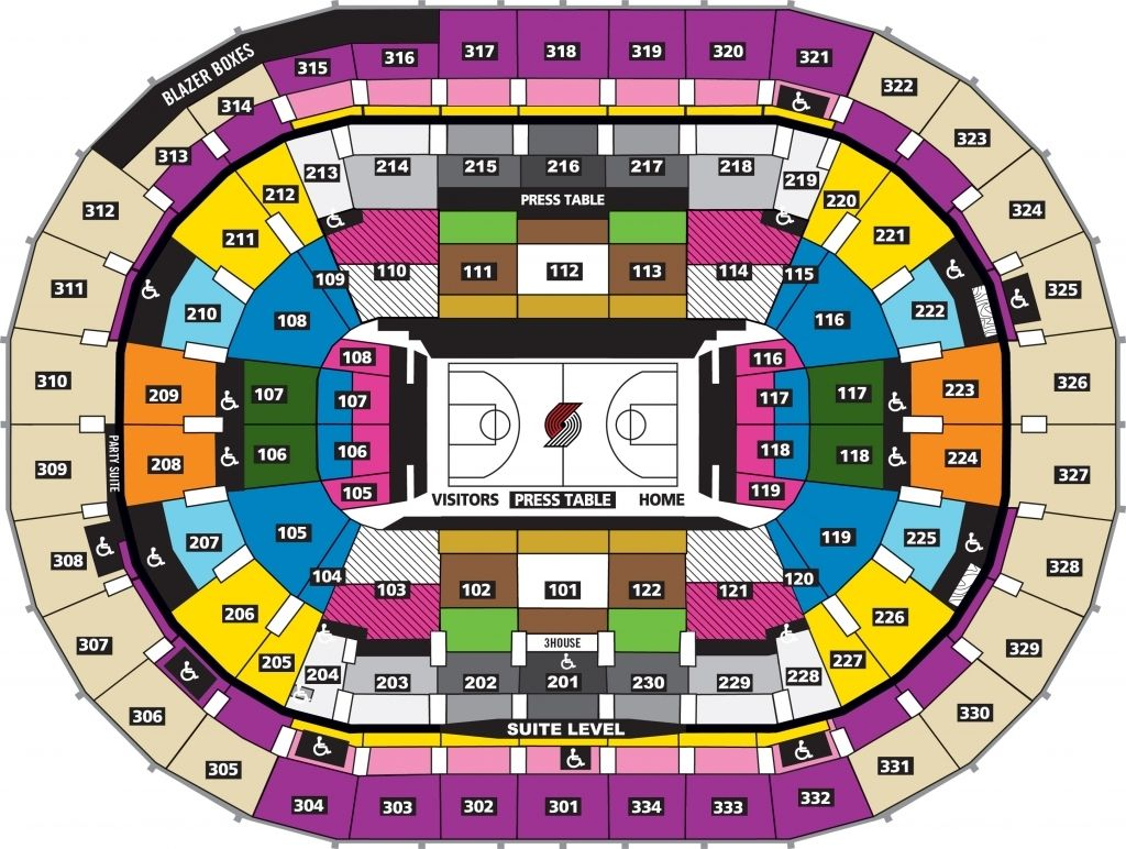 Moda Center Seating Chart With Rows En 2020