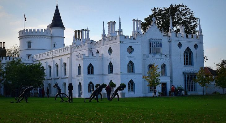 Walpole's Gothic Extravaganza Strawberry Hill Twickenham. Currently doing 'twilight tours'.