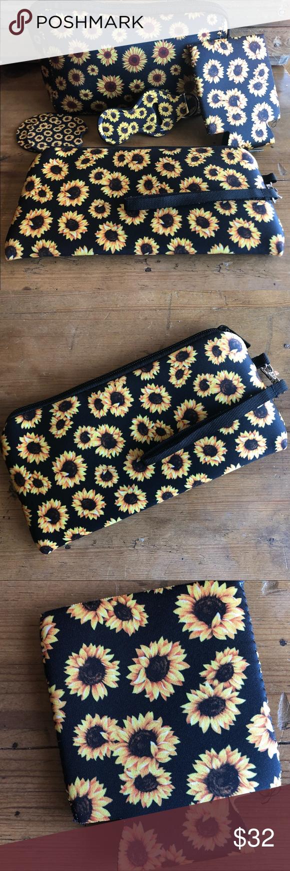 New 5 Piece Black Sunflower Set Sunflower, Things to