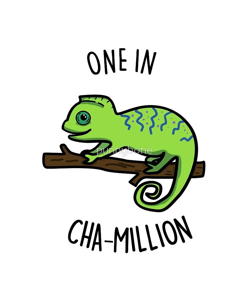 Best Funny Puns 'Cute One In Cha-million Animal Pun' by punnybone Cute One In Cha-million Animal Pun by punnybone 9