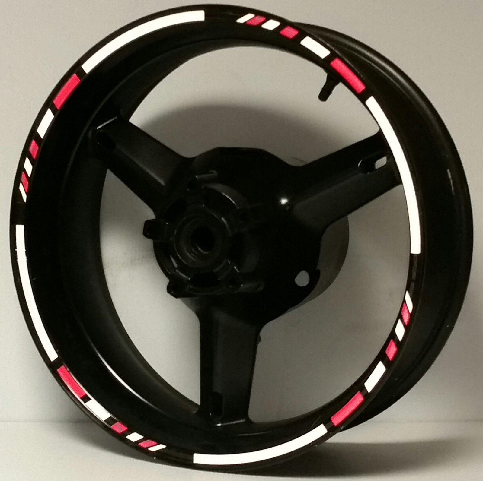Reflective rim stripes wheel decals tape stickers suzuki sv650 sv1000 s r katana
