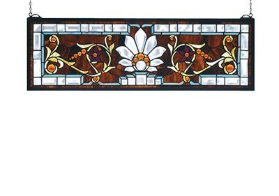Meyda Tiffany 73063 Beveled Elsinore Transom Window Stained Glass - Lighting Universe