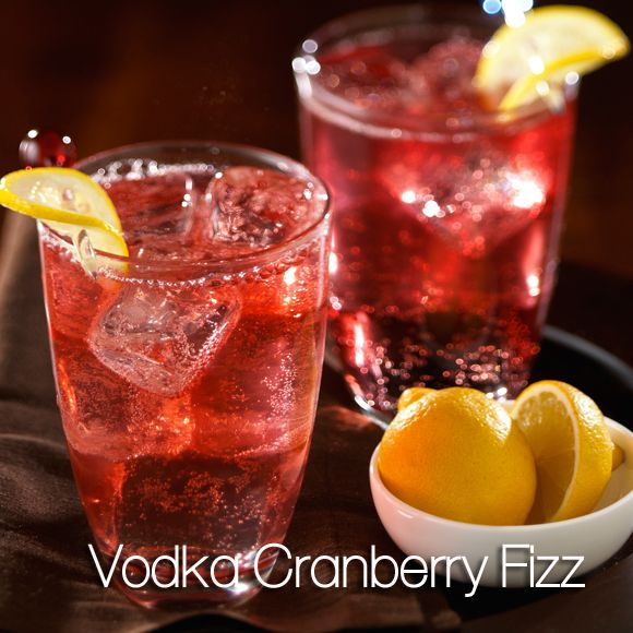 Sparkling Cranberry Orange Vodka Cocktail is a holiday cocktail drink with cranberry  vodka, hint of