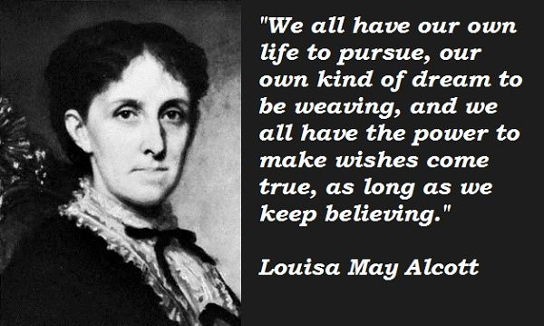 Louisa May Alcott Quotes Letreros